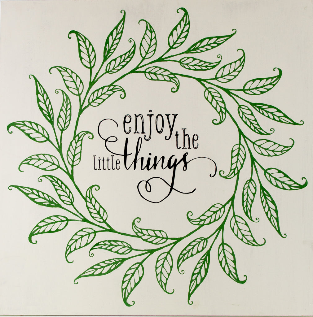 Enjoy the Little Things Wreath Art