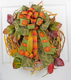 Fall Grassy Wreath