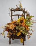Fall Grapevine Chair Arrangement