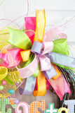 Gingham Easter Sign Wreath