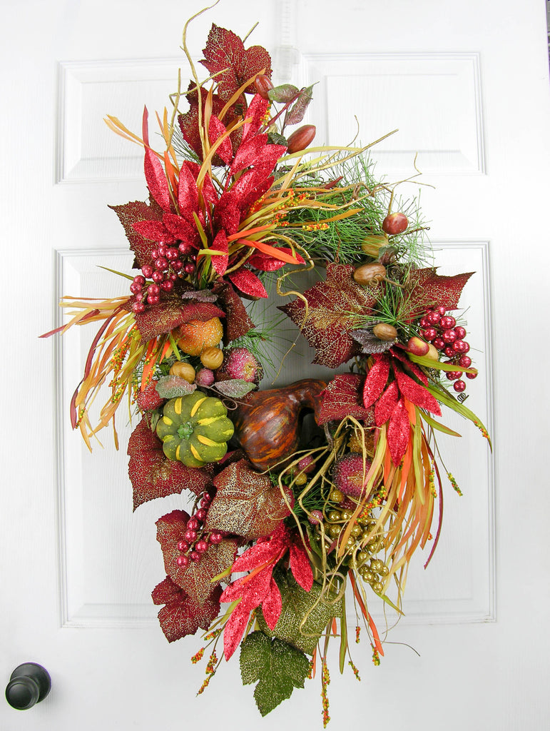 Glitzed Grape Fall Wreath