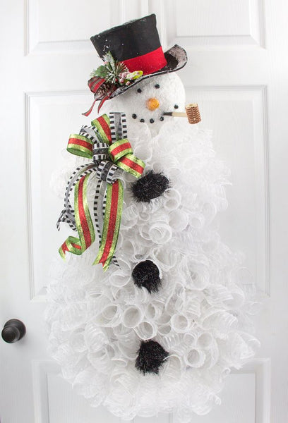 Snowman Wreath Tutorial Milanddil Designs