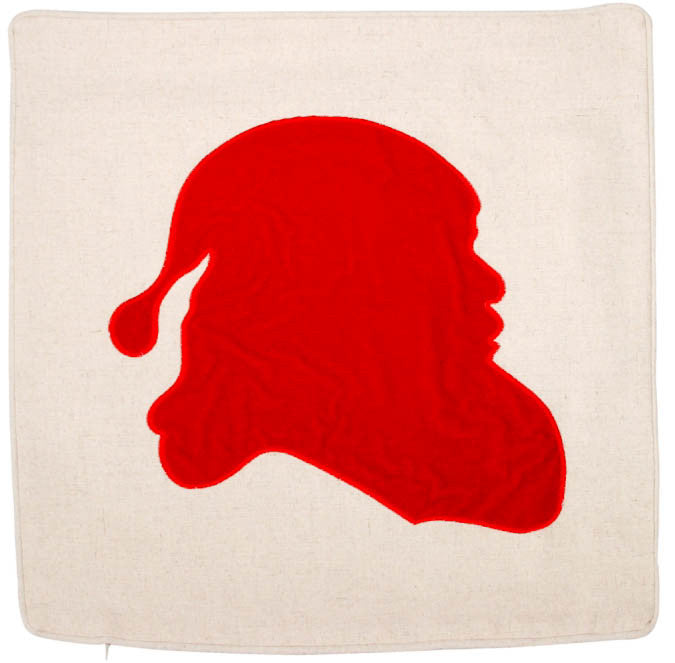 Santa Silhouette Pillow