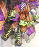 Witchy Bows & Legs Wreath