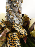 Christmas Cheetah Candle Centerpiece