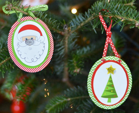 Children's Holiday Fingerprint Ornament