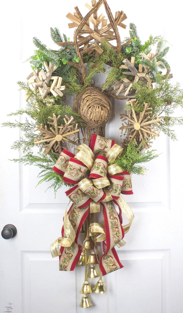 Rustic Deer Christmas Wreath