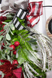 Metal Ring Christmas Wreath
