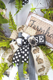 Farmhouse Grapevine Mossy Bunny Wreath
