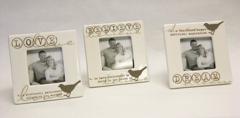 Ceramic Bird Accent Frames