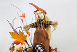Scarecrow Pumpkin Arrangement