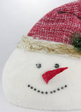 Snowman Face with Woven Hat