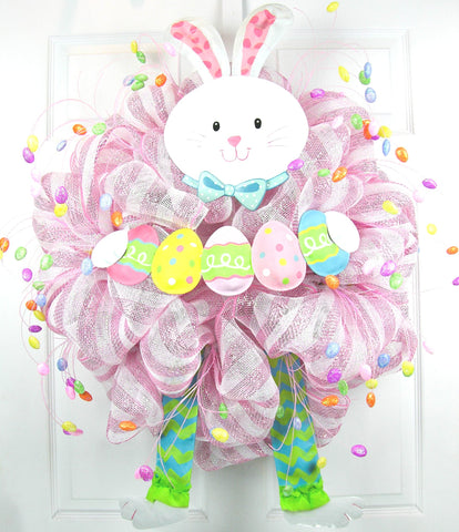 Bunny in Pink Wreath