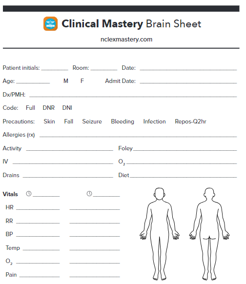 Clinical Mastery Brain Sheet