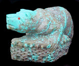 Pueblo Turquoise Bear Carving