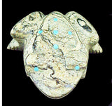 Serpentine Frog Fetish Zuni Pueblo Indian Artifact