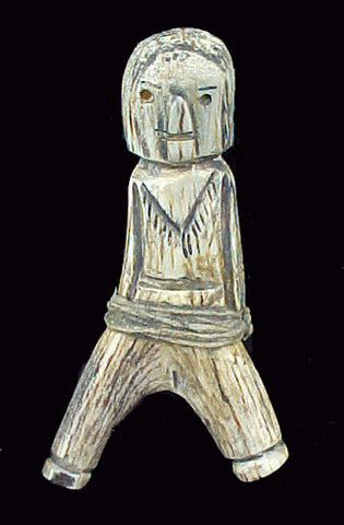Teddy Weahkee Antler Human Figure Zuni Indian Vintage Fetish Carving