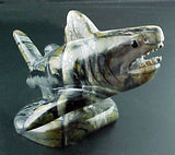 Great White Shark Fetish Native American Stone Fish Carving