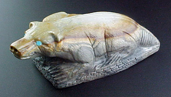 Herbert Him Pueblo Badger Fetish Zuni Indian Stone Animal Carving