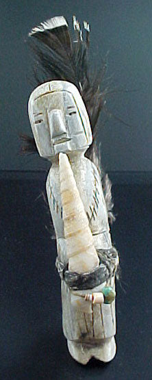 Teddy Weahkee Antler Priest Figure Zuni Indian Carving