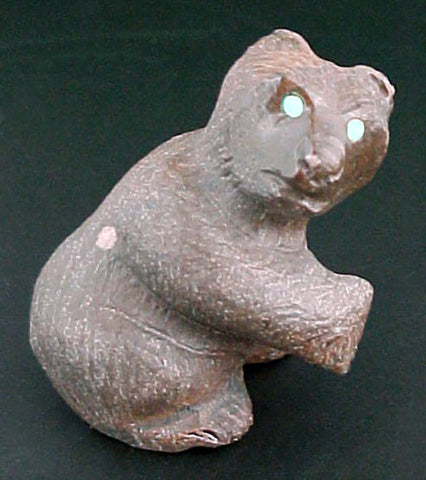 Brown Bear Fetish Zuni Indian Stone Animal Carving