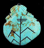 Turquoise Corn Maidens Zuni Pueblo New Mexico Hand Carved Stone Sculpture