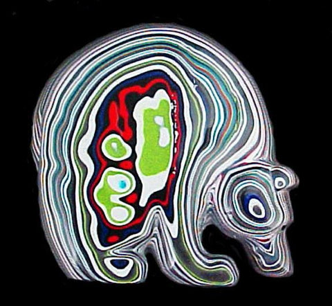 Fordite Medicine Bear Fetish Zuni Indian Animal Carving