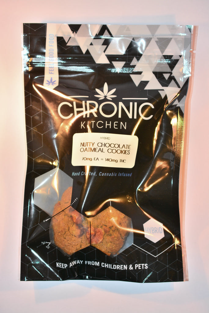 Edible - Chronic Kitchen Nutty Chocolate Oatmeal Cookies 140mg THC