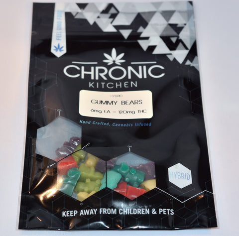 Edible - Chronic Kitchen Gummy Bears 120mg THC