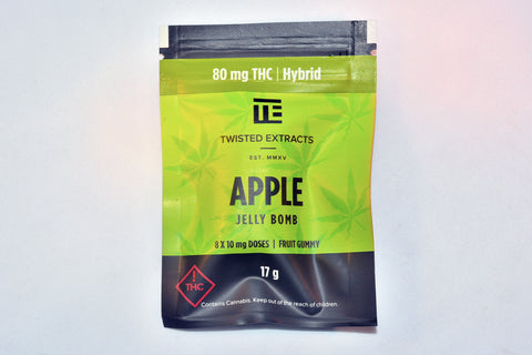 Edible - Twisted Leaf  8 Dose Jelly Bomb 80mg THC