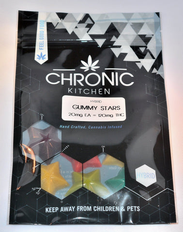 Edible - Chronic Kitchen Gummy Stars 120mg THC