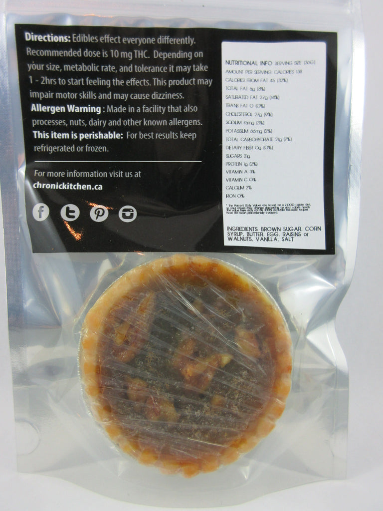 Edible - Chronic Kitchen Walnut Butter Tart 65mg THC