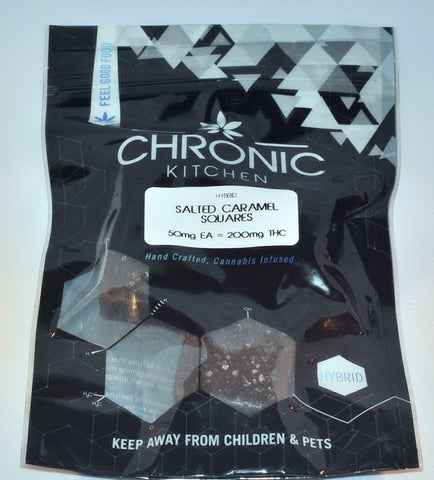 Edible - Chronic Kitchen Salted Caramel Squares 200mg THC