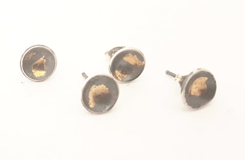 Sterling & Gold leaf studs