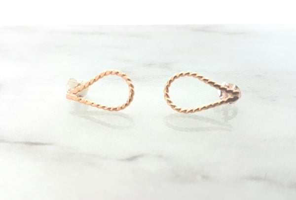 Teardrop gold filled studs