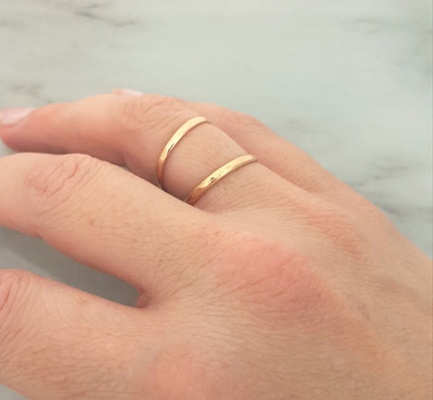 Gold filled double ring