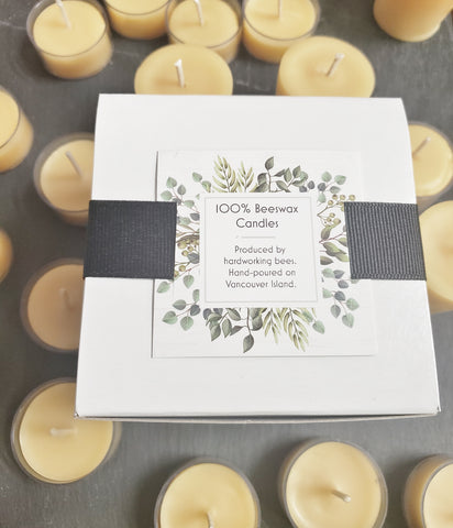 Boxed set beeswax candles