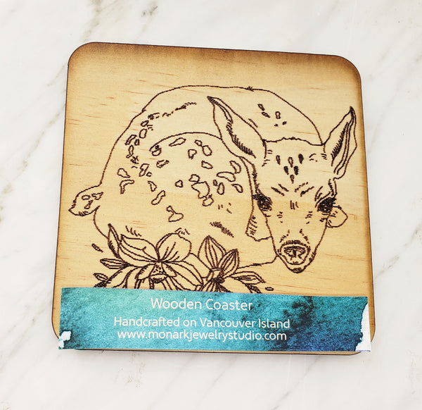 Wood Coaster (deer)