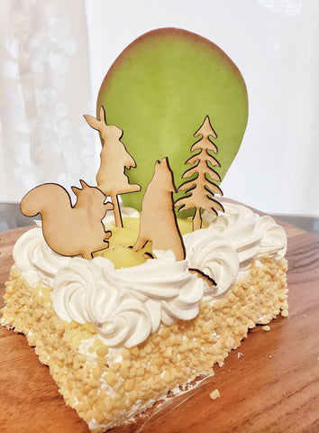 Cake toppers - Woodland Collection