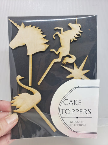 Cake toppers -  Unicorn Collection