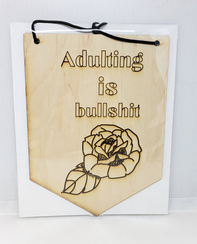 Wall Banner - adulting