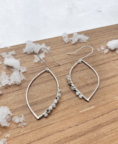Moonstone wrapped earrings
