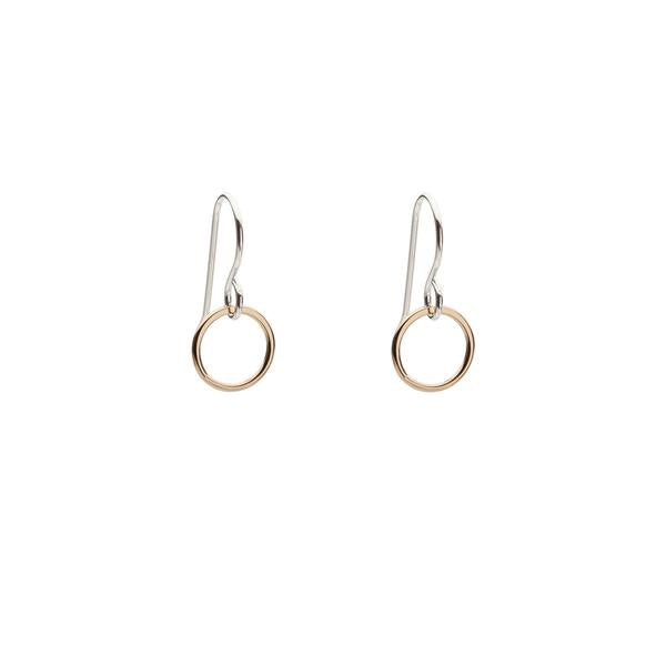 Circle Gold Fill or Sterling Earrings