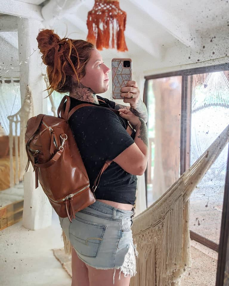 Saddle Brown- Isla Backpack/Purse