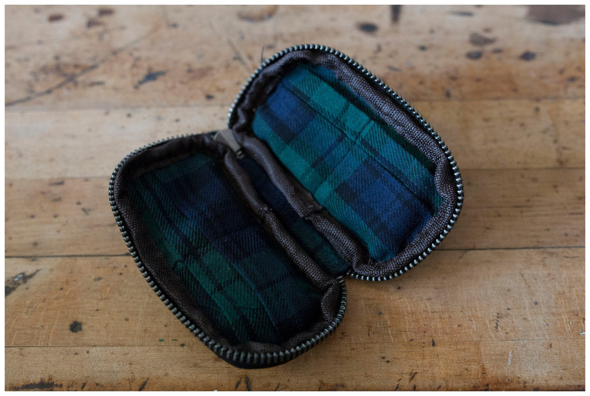Leather and Plaid Memory Card Holder 2 colors
