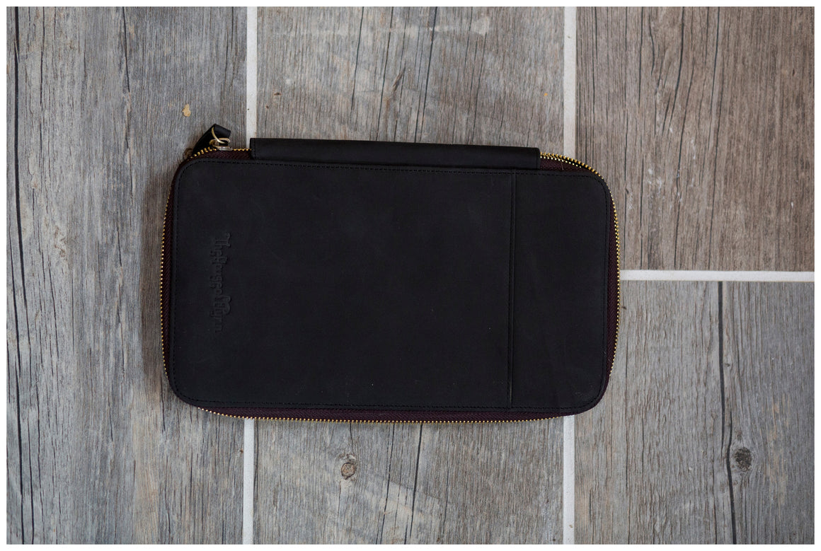 Black Leather Traveler's Wallet