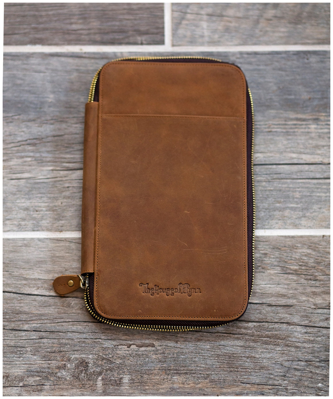 Vintage Brown Genuine Leather Traveler's Wallet