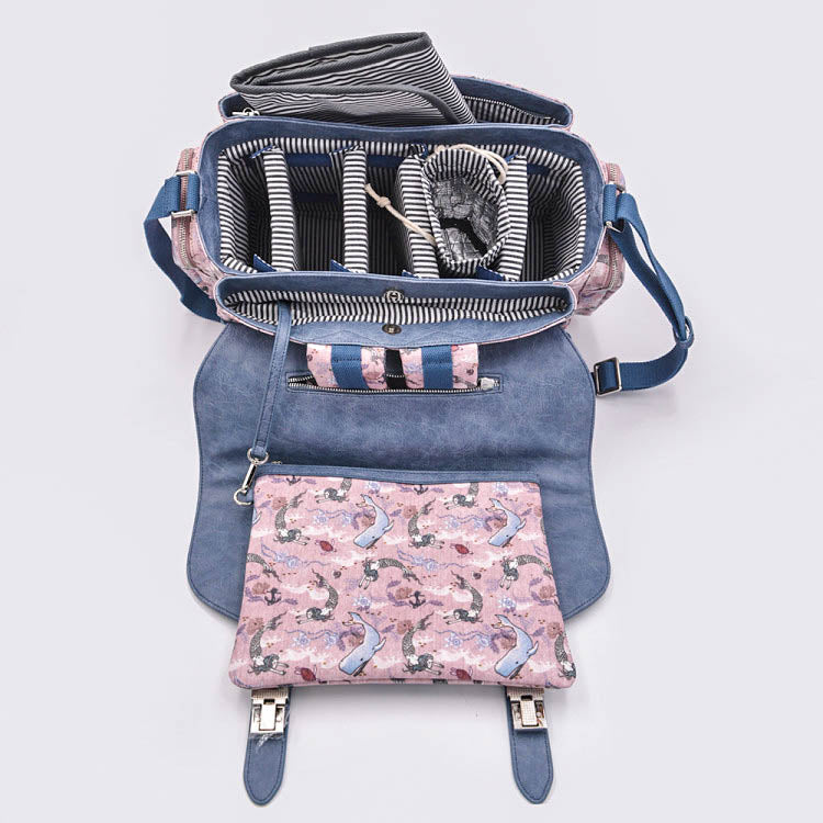 Oceana Mermaids Blue Diaper Bag - Siren Satchel