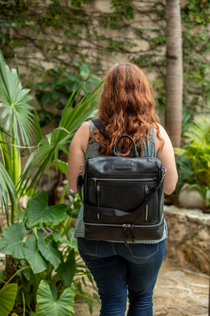 Obsidian Black- Isla Backpack/Purse