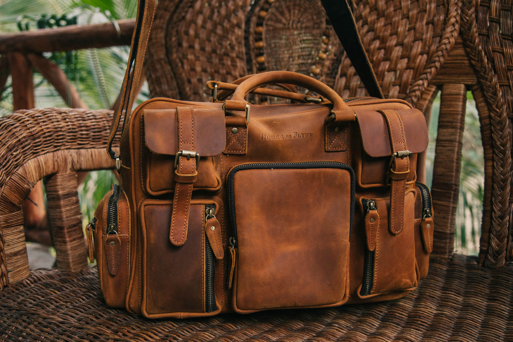 Leather Evermore- Vintage Brown/ Blush Fable